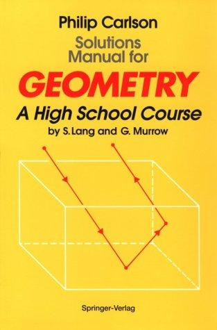 Image 0 of Solutions Manual for Geometry: A High School Course