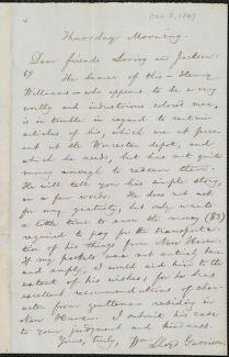 [Letter to] Dear friends Loring and Jackson by William Lloyd Garrison