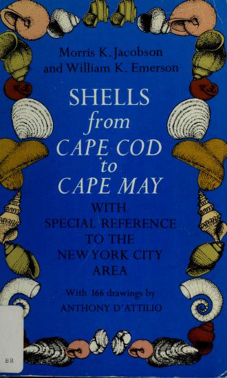 Cover of: Shells from Cape Cod to Cape May   Morris K. Jacobson