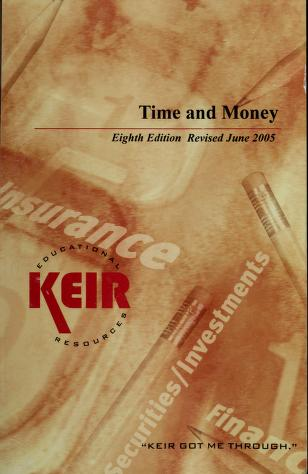 Cover of: Time & Money, 8th Edition | Robert Crowe