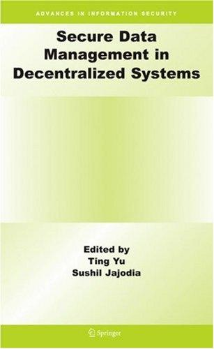 Secure data management in decentralized systems by