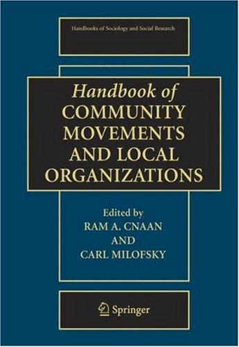 Handbook of community movements and local organizations by