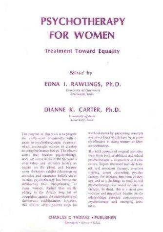 Psychotherapy for women by edited by Edna I. Rawlings, Dianne K. Carter.